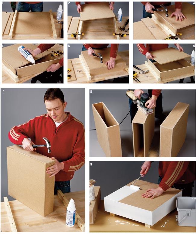 Tavolo modulare, tavolo componibile, tavolo fai da te, costruire un tavolo, tavolino da salotto