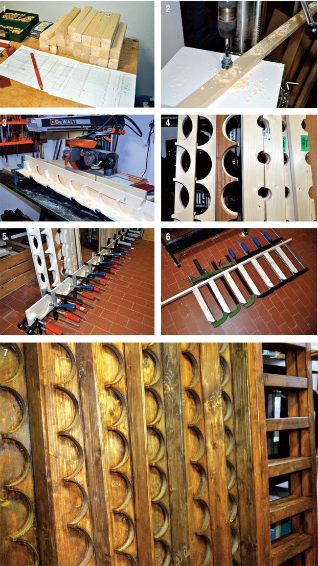 Cantinetta vino fai da te come costruirla bricoportale fai da te e bricolage - Costruire un portabottiglie in legno ...
