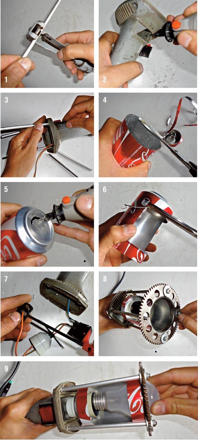 lampada con materiale riciclato, lampada fai da te, lampade fai da te, lampada di riciclo