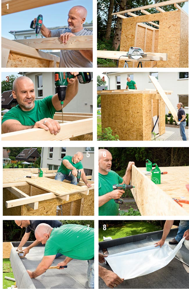 Come costruire una casetta di legno da giardino - Costruire mobili fai da te ...