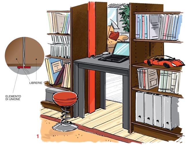 Libreria divisoria fai da te bifrontale idee ed esempi for Libreria da ufficio