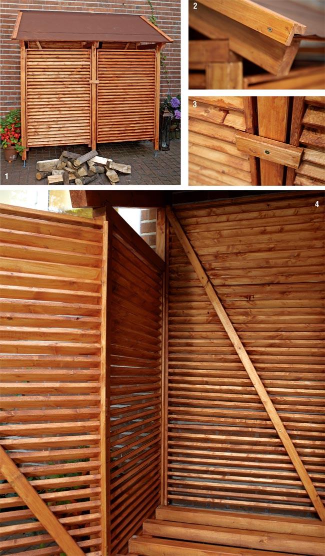 Costruire una legnaia fai da te da esterno con tettoia for Piani di coperta in legno