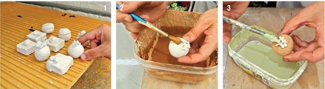 pasticcini di ceramica, come realizzare pasticcini di ceramica, modellare la creta, modellare l'argilla, ceramica