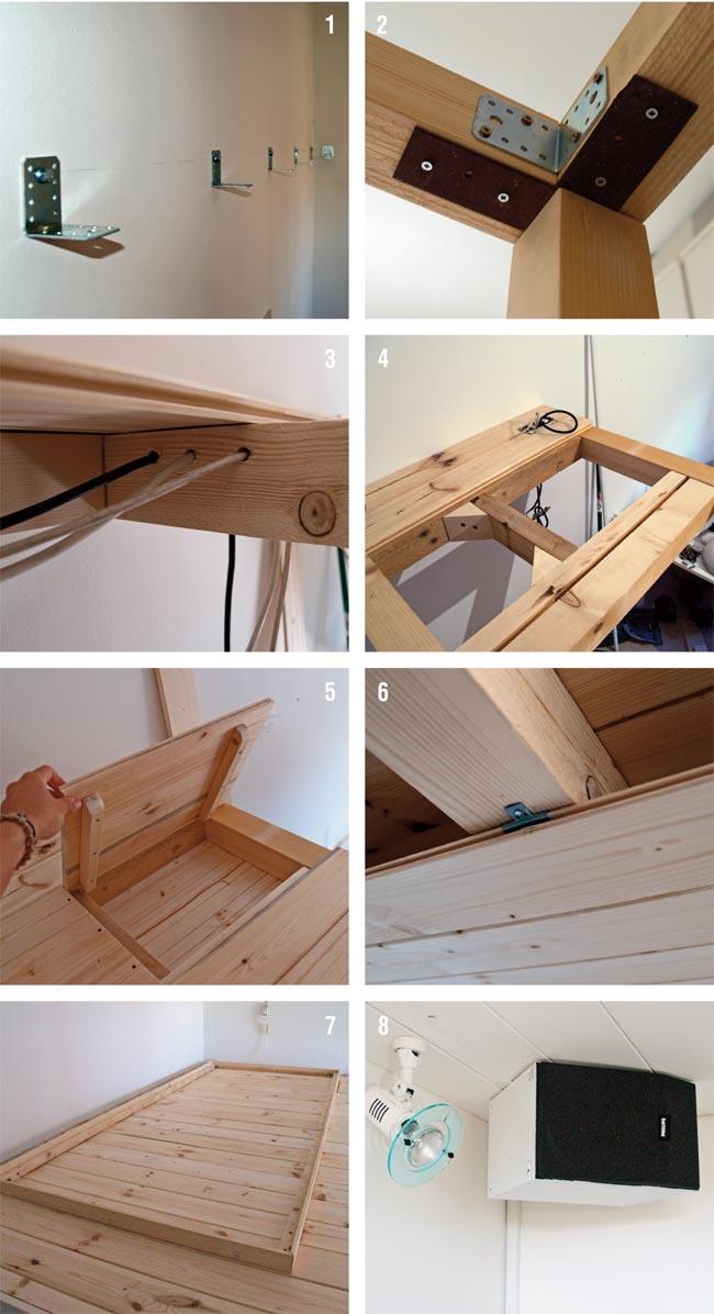 Soppalco fai da te in legno con scrivania annessa - Bricoportale: Fai da te e bricolage