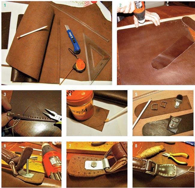 Conosciuto Come realizzare una borsa di cuoio cucita a mano EU32