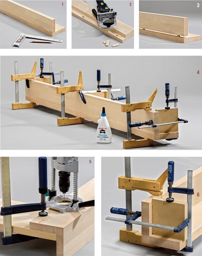 Elegant montanti letto with creare con il legno - Costruire un mobile in legno ...