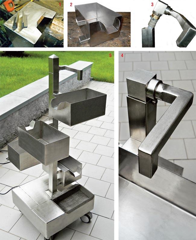 Fontana zen fai da te in acciaio inox per giardino bricoportale fai da te e bricolage - Fontane fai da te per giardino ...
