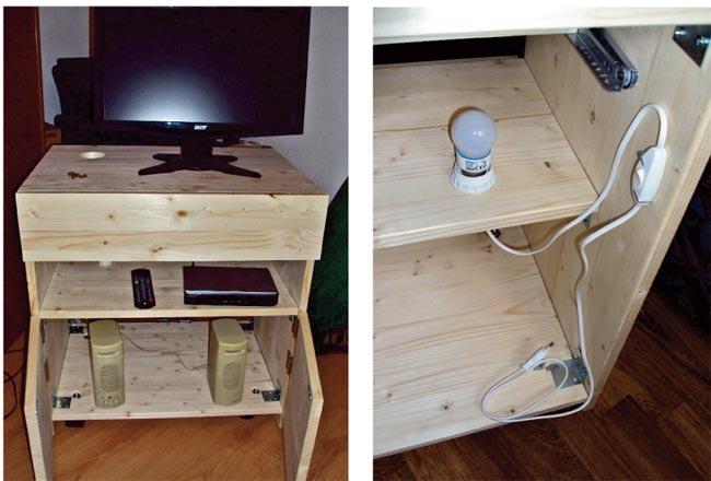 Porta tv fai da te in lamellare d 39 abete bricoportale - Costruire un mobile in legno ...