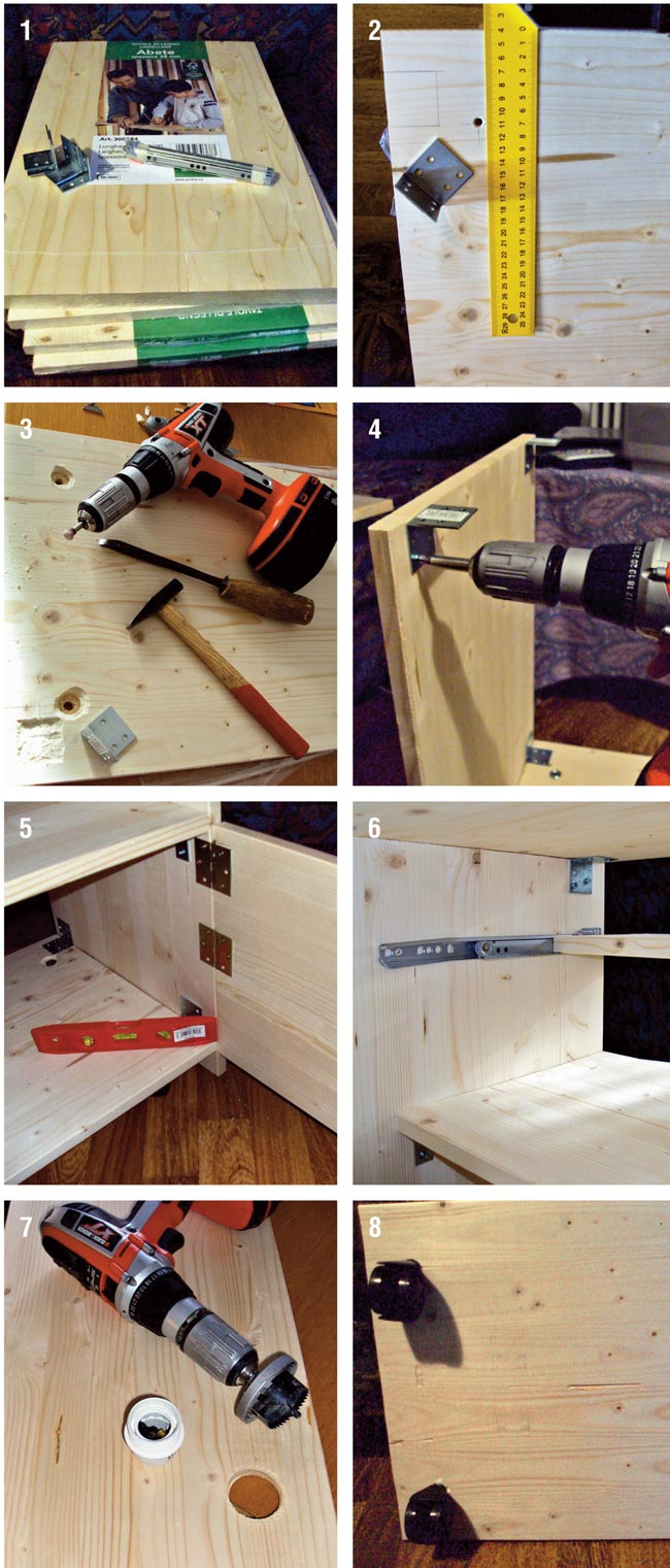 Porta tv fai da te in lamellare d 39 abete bricoportale fai da te e bricolage - Costruire un mobiletto ...
