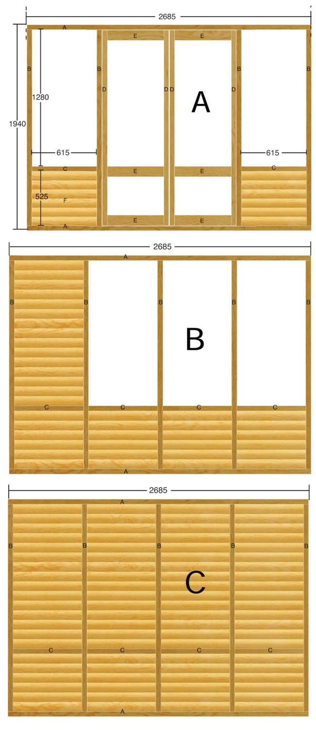 schema di costruzione casa in legno