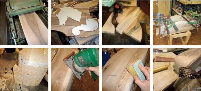 piallatura e unione del legno