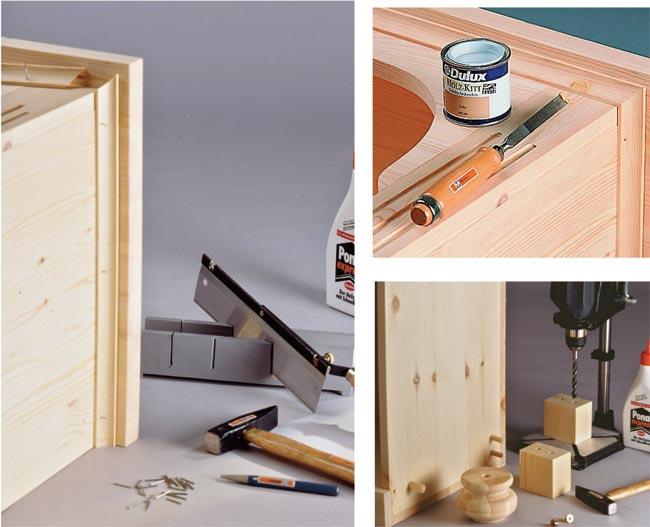 Credenza Alta Rustica : Credenza rustica fai da te in legno d abete bricoportale
