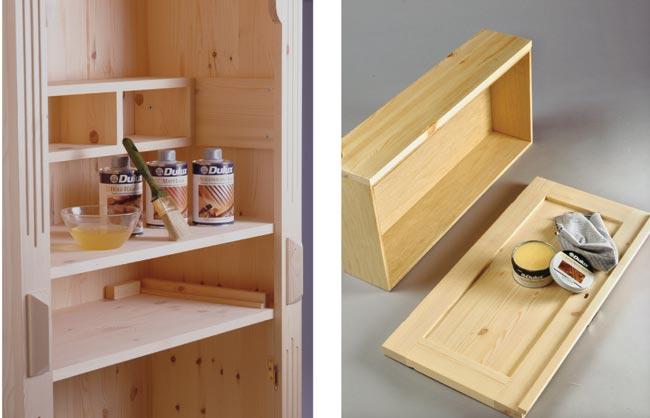 Credenza Da Verniciare : Credenza rustica fai da te in legno d abete bricoportale