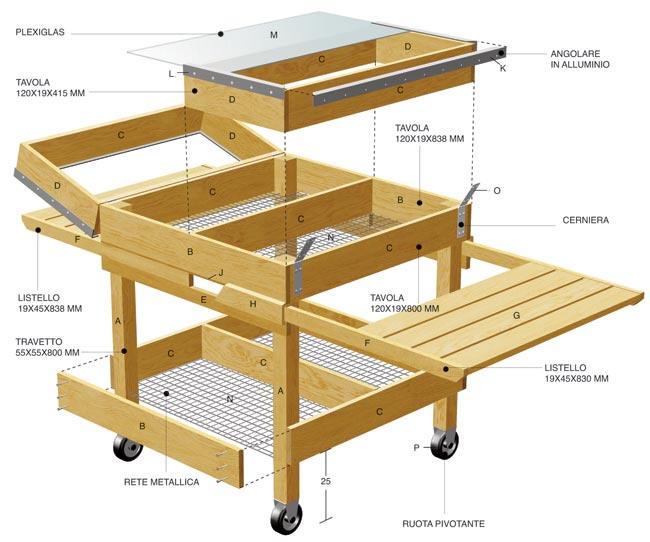 banchetto modulare per giardino