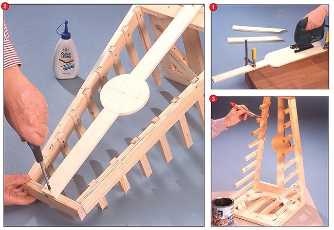 Portacoperchi fai da te da cucina bricoportale fai da te e bricolage - Parete in legno fai da te ...