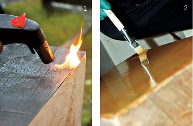 bruciatura del legno