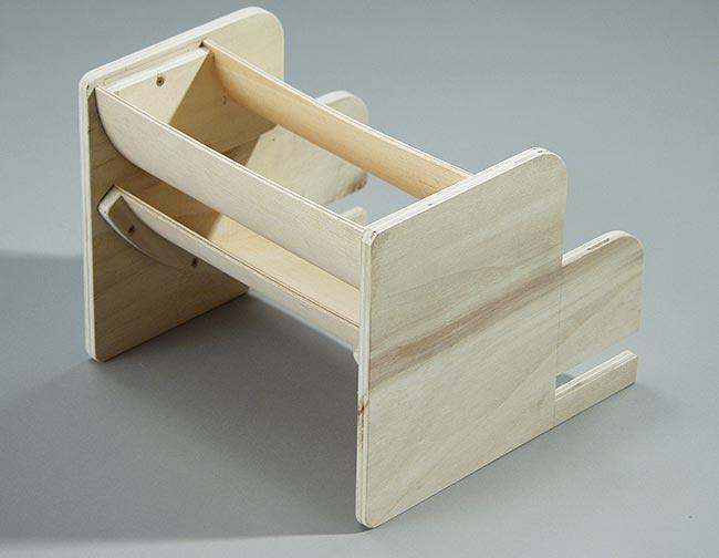 alettone posteriore in legno