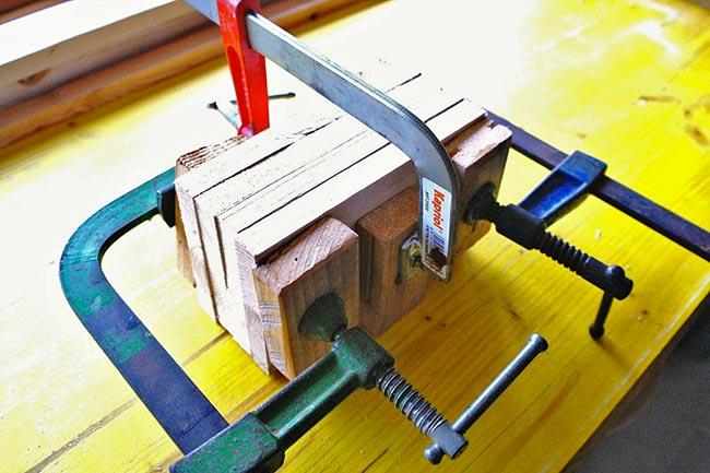 unire il legno con le morse