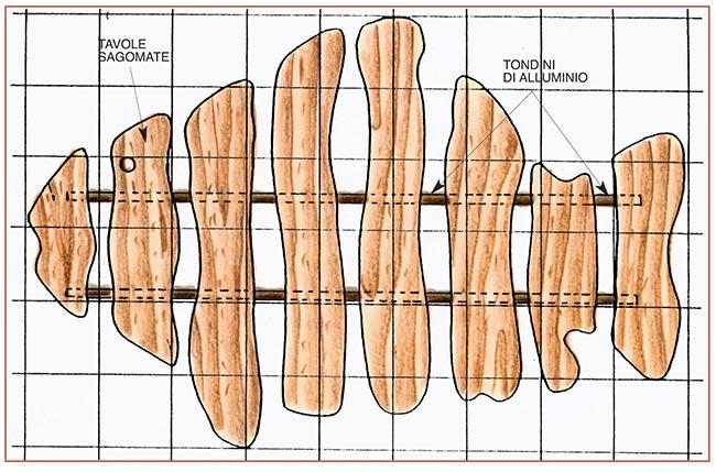 sogliola di legno