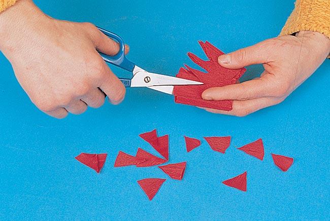 taglio carta crespa