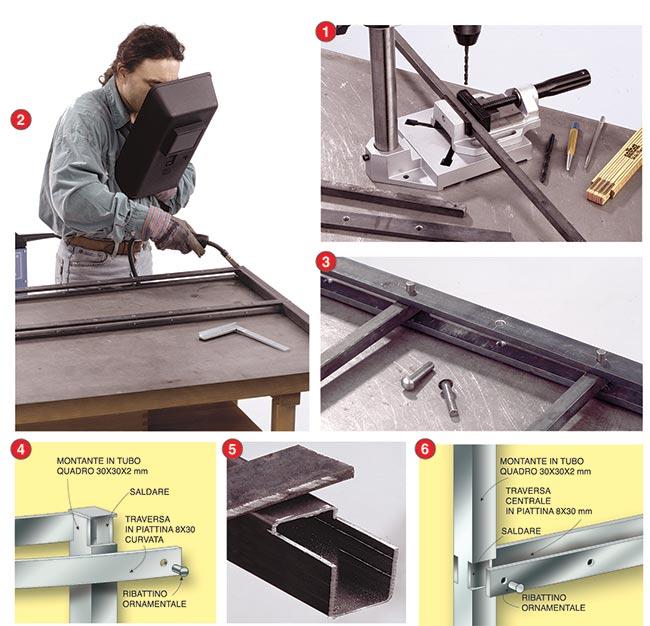 creazione di un telaio in ferro
