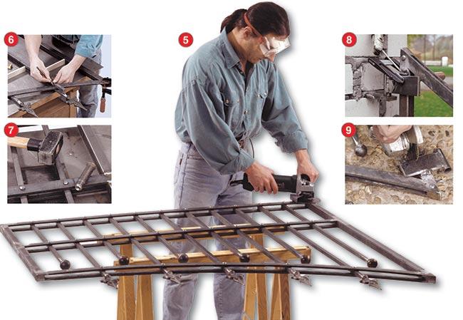 cancello in ferro molatura
