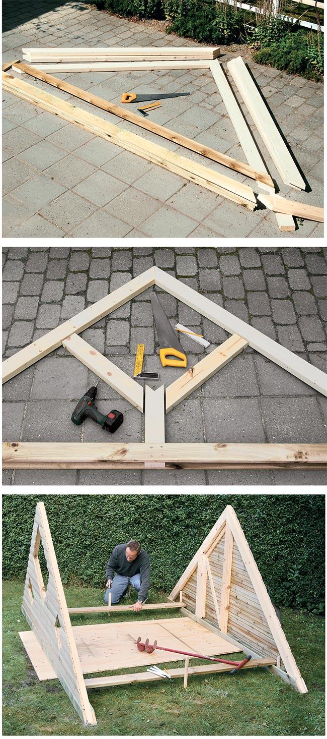 Casetta per bambini fai da te tutti i passaggi - Costruire una casetta ...