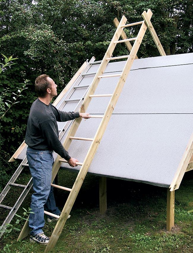 tetto casetta di legno