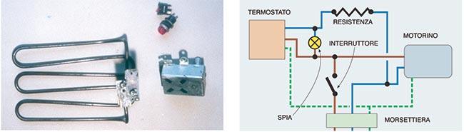 schema elettrico friggitrice