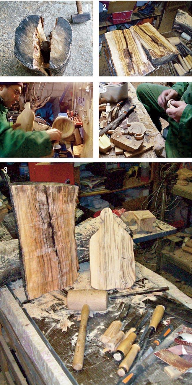 lavorazione legno ulivo