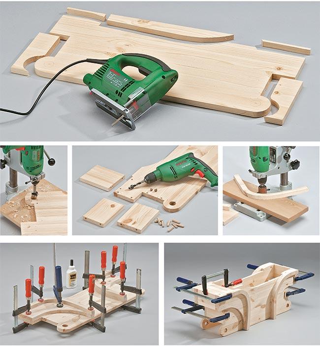 quad in legno