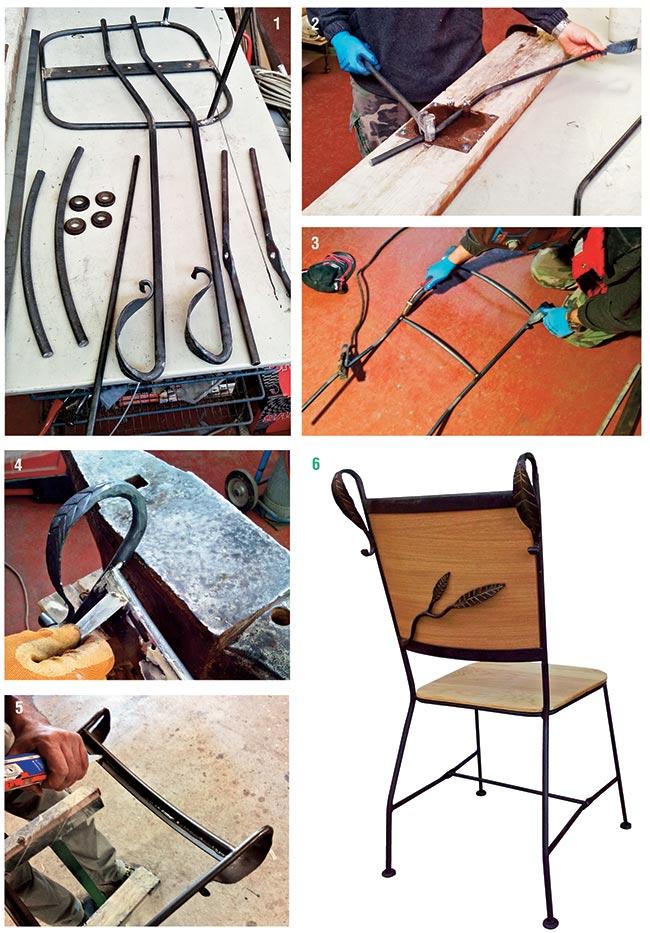 schienale sedia in ferro