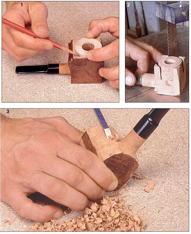 costruzione del fornello di una pipa