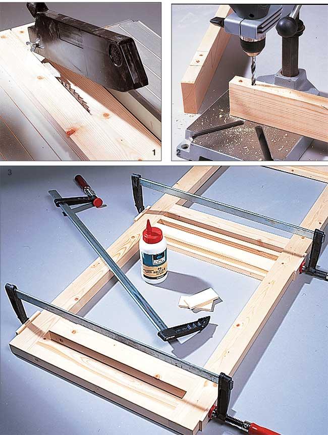 taglio del legno per realizzazione telaio