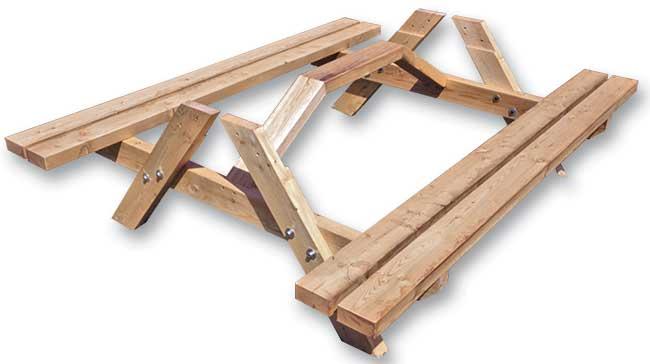 struttura tavolo di legno fai da te