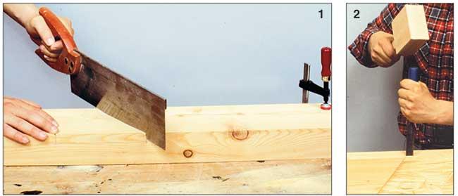 taglio diagonale del legno